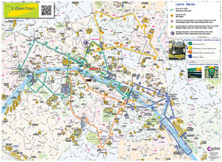 Carte de bus touristique et hop on hop off bus tour d'Open Tour
